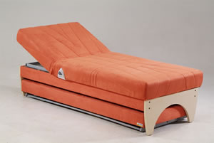 Double Sofa Bed Globe Orange